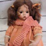 Фарфоровая кукла от Helga Mateika. 1991 г.