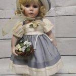 Винтажная фарфоровая куколка из Германии.