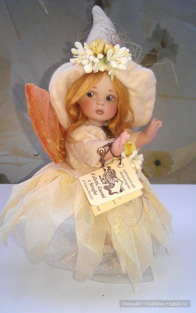 фея Миндаль. Фарфоровая коллекционная кукла Montedragone