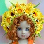 Красивая цветочная корона для кукол Пуллип, Дианны Эффнер, кукол с головой 7-8 инч