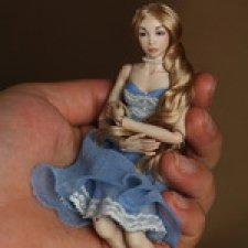 Две новые фарфоровые миниатюрные шарнирные куклы Инны Криковцевой, MovingDolls