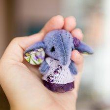 Лавандовый слоник, игрушка  ручной работы
