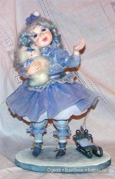 «Снежинка» куклы Ларисы Кукурика