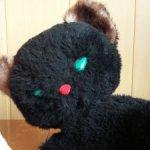 Черный плюшевый отреставрированный котенок СССР. Большая редкость в таком классном состоянии!