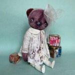Фиалковый мишка от Алены Жиренкиной