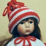 Помощница Деда Мороза! Фарфоровая кукла