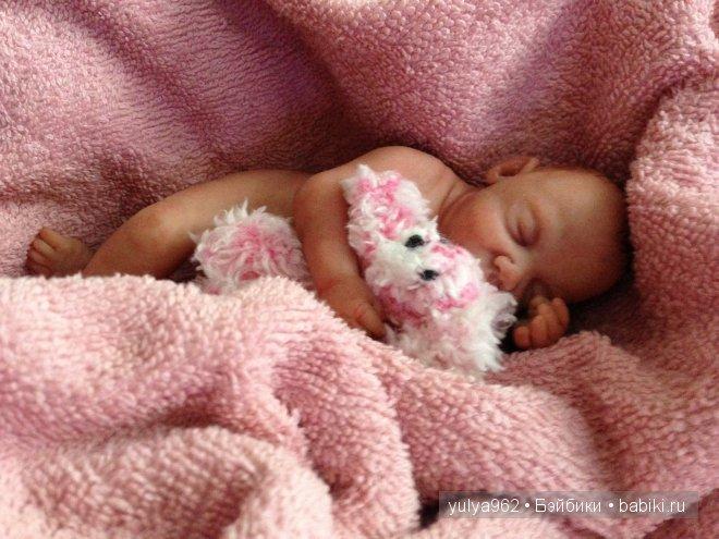 Малышка с зайчиком ООАК