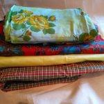 Набор винтажных тканей для шитья куклам, для творчества.