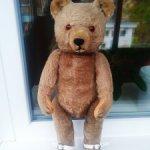 Винтажный медведь от известной германской фирмы Hermann Steiff  Teddy Bar