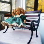 Винтажная лавочка для кукол, Германия. Скидка!