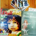 Набор журналов о кукольной моде с выкройками, журнал о кукольном мире, цветной, плюс открытки.