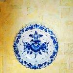 Коллекционная большая красивая тарелка. Цветы. Голландия.