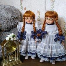 Фарфоровые сестрёнки-близняшки, рыжульки от Promenade collection. Скидка