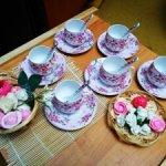 Фарфоровый сервиз на 6 персон для кукольных чаепитий и фотосессий. Elan gallery. Новый.