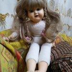 Редкая и необычная куколка Gotz, в стиле антикварных реплик. 1984 г. Нюд.