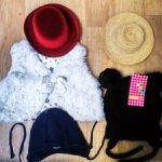 Лот : шляпки, шапки, жилеточка:)