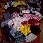 Много платьев и другой одежды на куколок ростом 30-45 см.