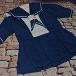 Платье-матроска для антикварной или винтажной куклы