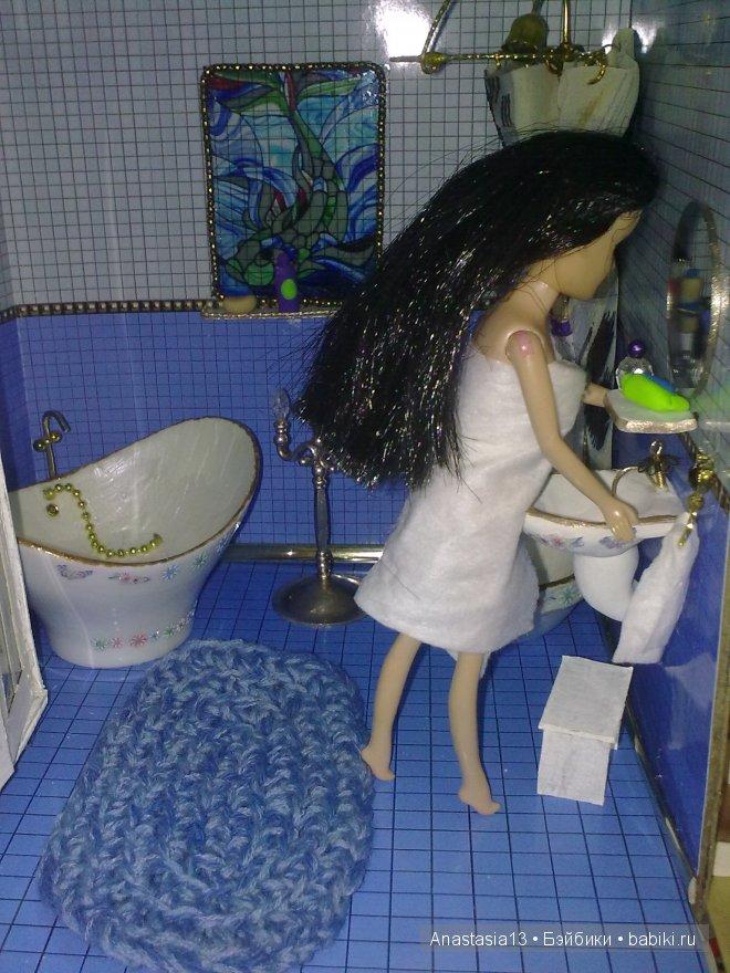 Обустраиваем ванную комнату для кукол