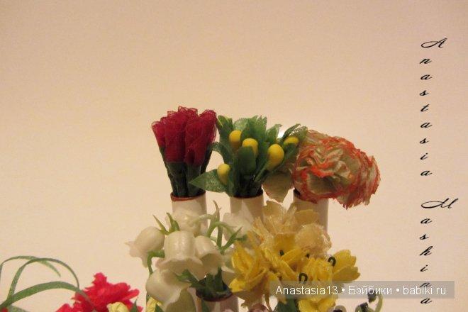 верхний ряд цветочков