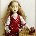 Саша. Авторская текстильная кукла Ирины Поцелуйко