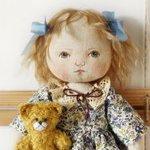 Текстильные авторские куклы-малышки Ирины Поцелуйко