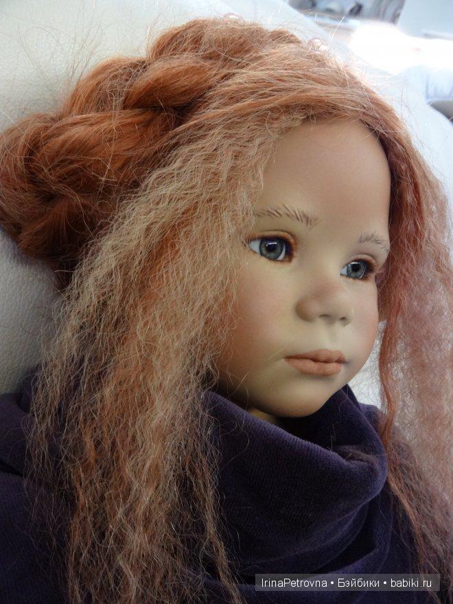 Подобрали косы и попробовали темно-фиолетовый бархат