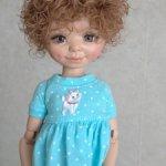 Продам озорной паричок для куколки, на объем головы 19,5см.
