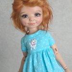 Продам озорной паричок- рыжик, для куколки, на объем головы 19,5см.