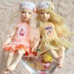Зефирка и Карамелька. Шарнирные куклы, много фото