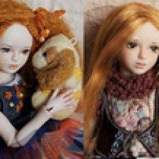 Катенька и Карина. Мои фарфоровые шарнирные куколки
