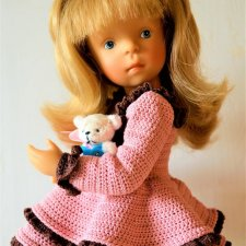 PDF Мастер-Классы по вязанию крючком для кукол Minouche (минуш)