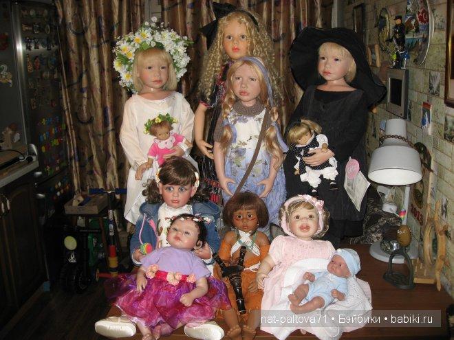 Потом подтянулись и остальные куклята - Джавари, Полинка с пупсиком и Сарочка