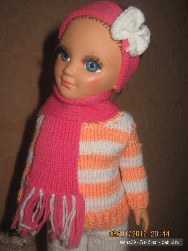 Кукла Анастасия российской фабрики Весна. Вязала дочке на Новый год