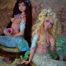Морская русалка. Авторская кукла Натальи Михаелян