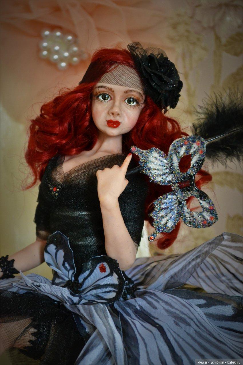 авторская кукла Натальи Михаелян, полимерная глина.