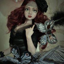 Бабочка-Махаон. Авторская кукла Натальи Михаелян