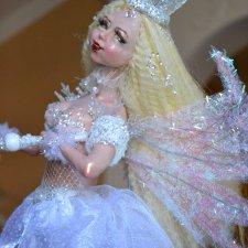 Сияющая зима. Авторская кукла Натальи Михаелян