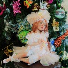 Персиковый зефир. Авторская кукла Натальи Михаелян