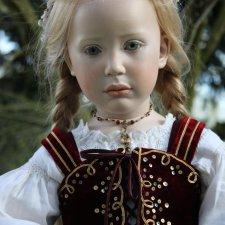 Процесс создания фарфоровых кукол - Джинн Гросс (Jeanne Gross). Часть восьмая - Национальный костюм