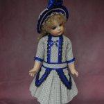 Платье и шляпка для куклы58- 60 см