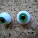 Глаза стеклянные(папервейт)  12 мм