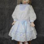 Батистовое платье для куклы 58-63 см