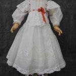Батистовое платье  и сорочка для куклы 58-60 см