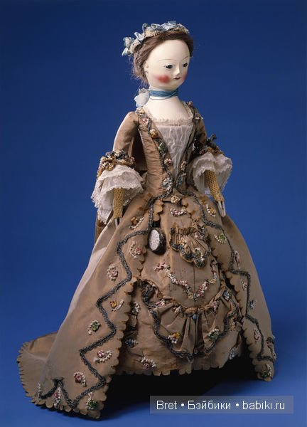 Модная кукла, Пандора, из коллекции музея Виктории и Альберта, Лондон, 1750-60-е