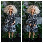 Трикотажное платье с запахом для Барби