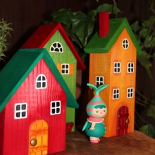 Весенние домики и фигурки  Popmart