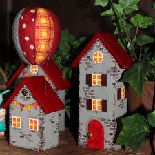 Домики и воздушный шар Глазуновой Анны