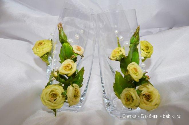 Цветочки, реалистичная флористика. Заколочки