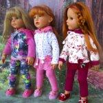 Трикотажные костюмчики для кукол Готц и подобным